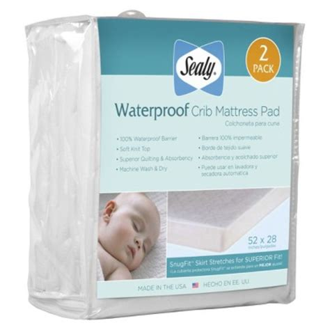 Sealy Stain Protection Crib Mattress Pad by Sealy Crib Mattress Pad Sealy Sealy Stain Protection