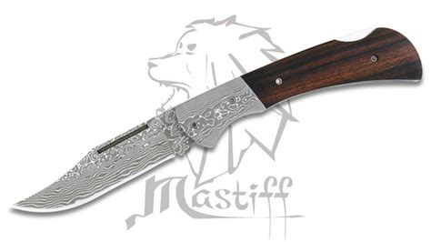 japanese folded steel kitchen knives mastiff japanese damascus folded steel folding knife w wood handle hrc 58