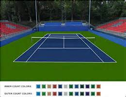 what color is a tennis tennis court construction tennis surface options