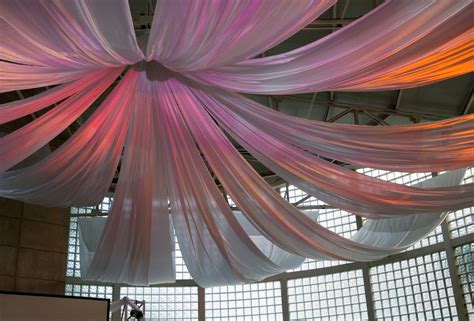 ceiling fabric draping here s how to make any room party ready with just 10