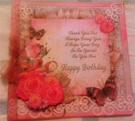 Card Decoupage - decoupage birthday card craft