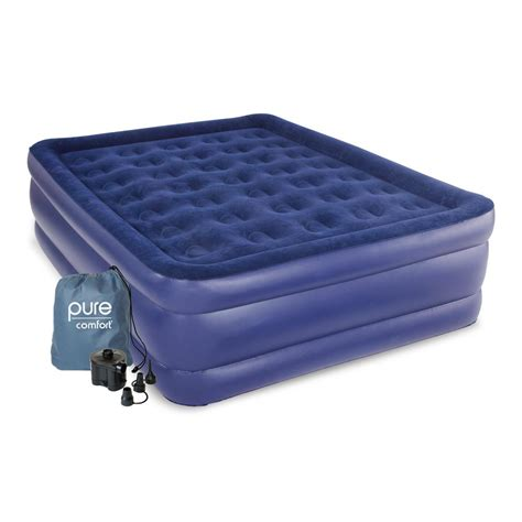 pure comfort queen size raised air mattress ab