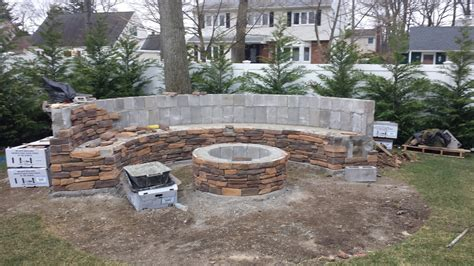 firepit bench building a custom bench and fire pit ceraso masonry
