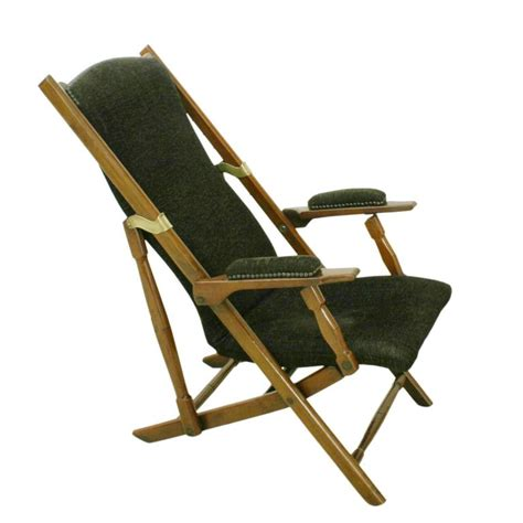 folding armchairs folding upholstered caign or deck armchair for sale at