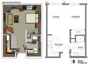 Floor Plan Of Studio Apartment The Studio Apartment Floor Plans Above Is Used Allow The