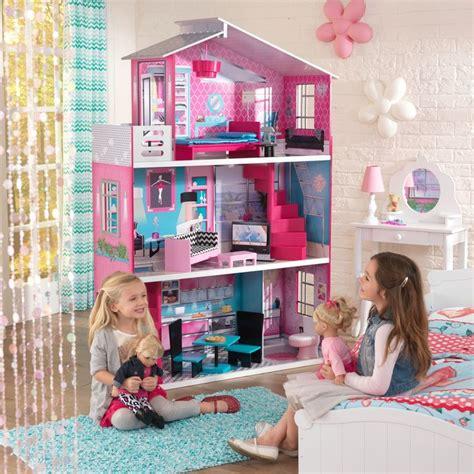 kidkraft barbie doll house breanna 18 inch dollhouse kidkraft dollhouse playroom dollhouses and doll furniture