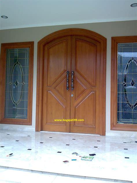 Pintu Utama Panel Solid Kayu Ker Samarinda Oven 80x210 Pu7 pintu panil ker samarinda oven pk boga jati