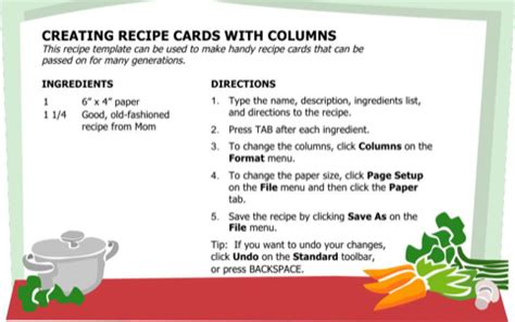 recipe card template docx recipe card template for free formtemplate
