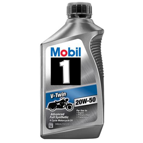 mobil one motorcycle mobil 1 20w 50 synthetic motorcycle 1 qt