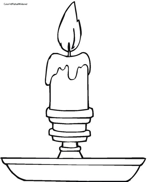 Candle Coloring Page Getcoloringpages Com Candle Coloring Pages