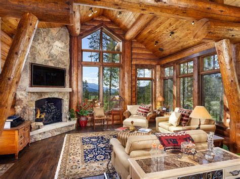 cabin style home exquisite log cabin mountain home sleeps vrbo