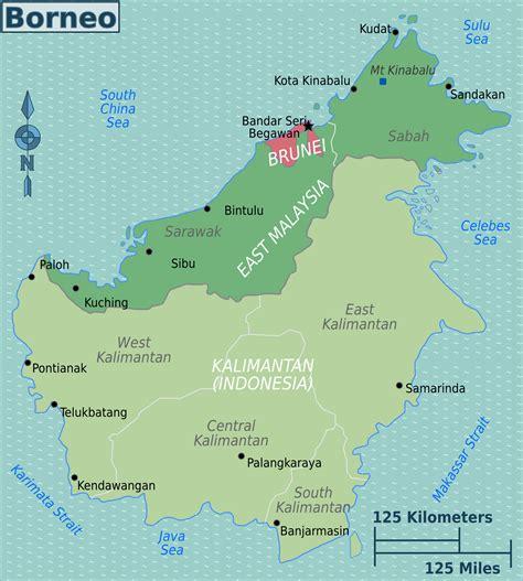 Borneo Kalimantan file borneo map png wikimedia commons