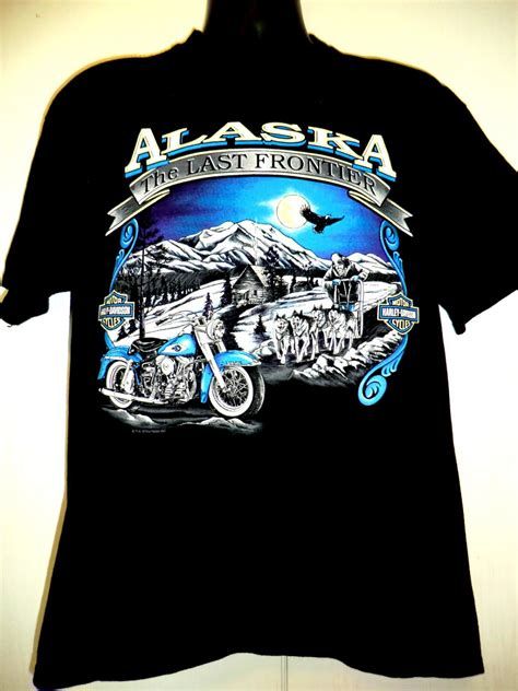 Harley Davidson Tshirt 16 vintage harley davidson alaska t shirt size large