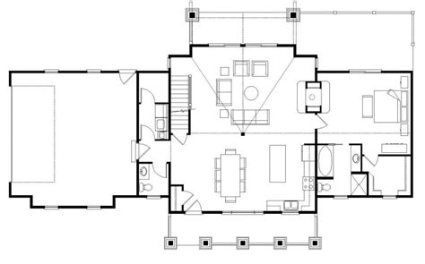 simple open floor house plans foxpoint ii log homes cabins and log home floor plans