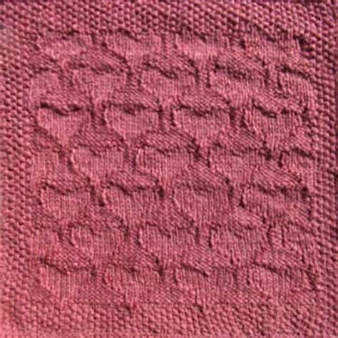 knitting pattern heart square knitted quilt squares valentine hearts pattern
