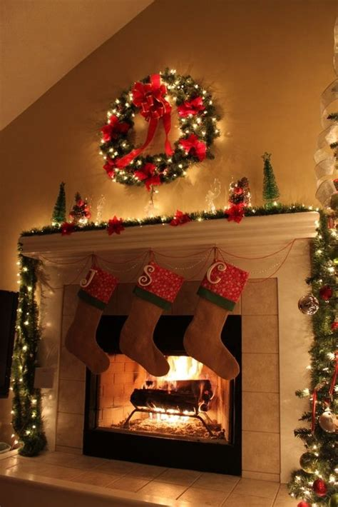 christmas fireplace pictures photos and images for