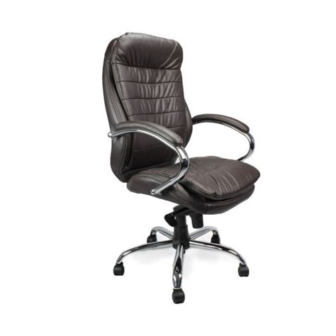 high back leather faced executive heavy duty office arm