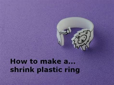 How To Make Paper Like Plastic - how to make a shrink plastic ring diy