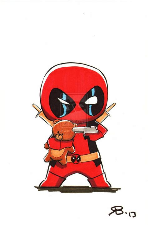 chibi deadpool2 by rickbas on deviantart arte