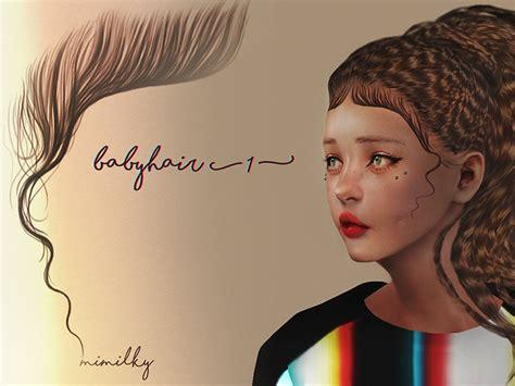 cc hair sims 4 baby daerilia s mimilky babyhair n1