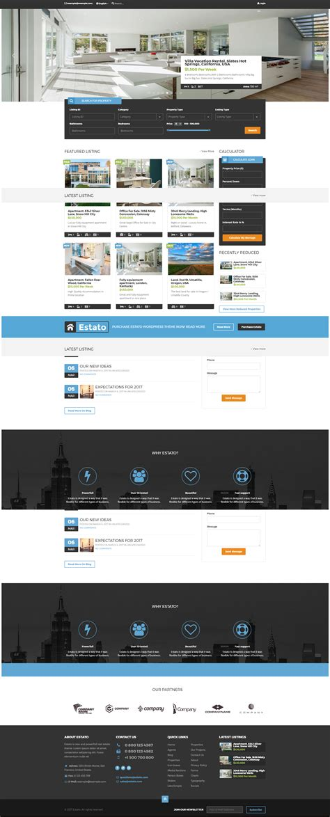 wordpress themes with video estato wordpress theme for real estate and developers by