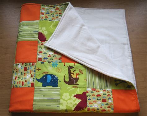 Patchwork Blankets For Babies - baby boy blanket green orange patchwork quilt