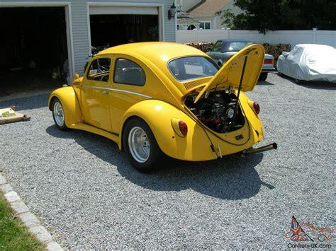 volkswagen bug yellow 1964 pro street volkswagen beetle 2110cc mint corvette yellow