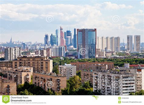 Home Living Design Quarter by Moscow City Skyline Editorial Photo Image 31862326
