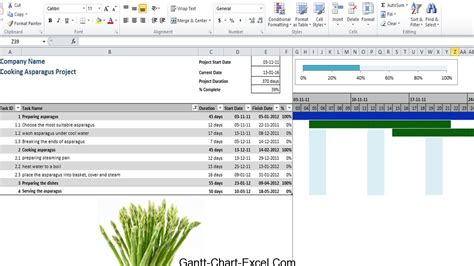 gantt chart project management excel template