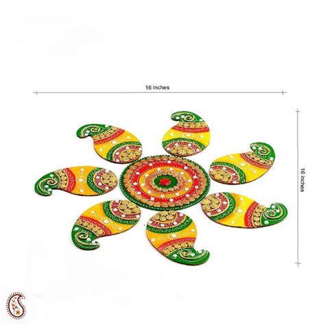 Handmade Diwali Gifts - buy diwali gifts handmade wood and clay floral floor