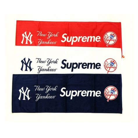 supreme ny supreme new york yankees towel navy