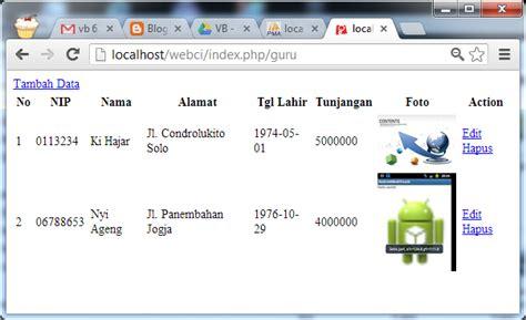 codeigniter tutorial library tutorial pemrograman dan source code android web mobile