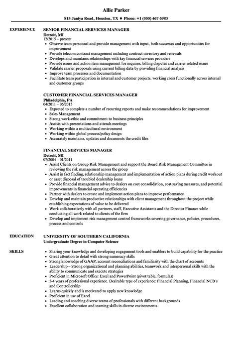 Financial Services Manager Resume Sles Velvet Jobs Financial Services Resume Template