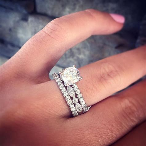 Engagement Ring Bands by Best 25 Stacked Wedding Bands Ideas On