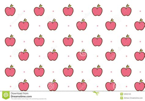 pattern apple background cute apple seamless background pattern stock illustration