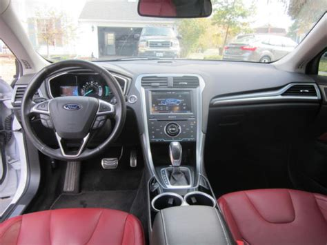 2014 ford fusion passenger airbag light fusion titanium pearl white black red leather