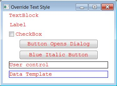 wpf textblock template changing default text syle