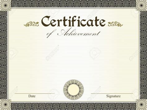 word document certificate templates 15 professional certificate of achievement templates