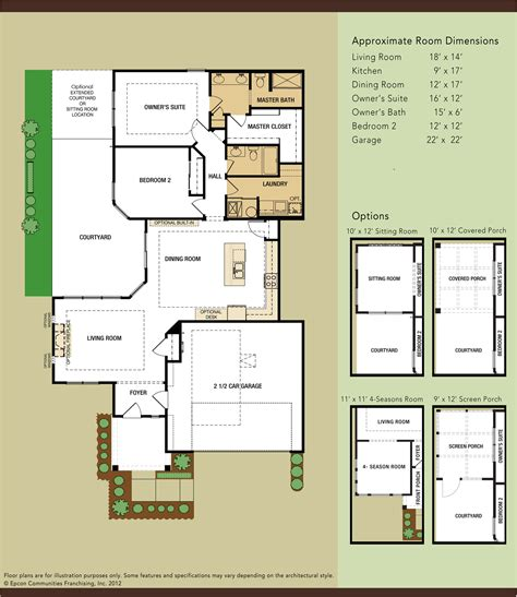 epcon communities floor plans models maples at the sonatas epcon communities