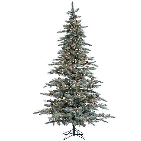 lightly flocked trees sterling 7 1 2 lightly flocked mckinley pine lighted