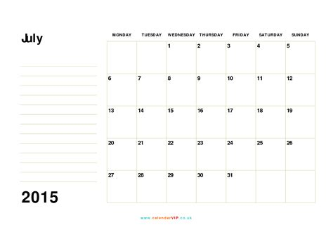 Calendar Template July 2015 July 2015 Calendar Free Monthly Calendar Templates For Uk