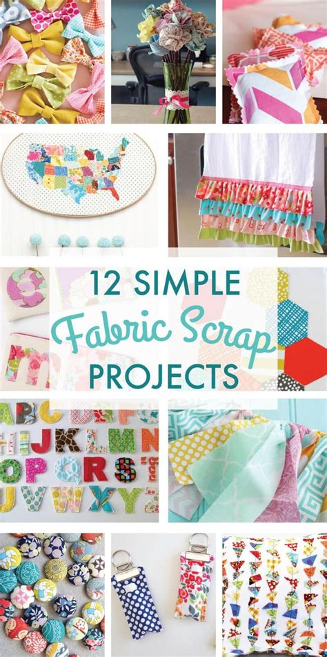 fabric crafts small 25 best ideas about scrap fabric projects on