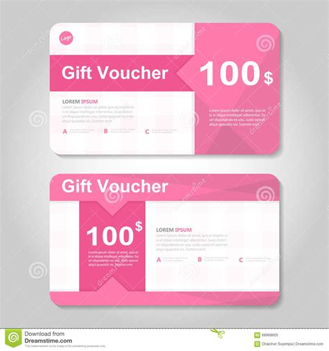 gift card layout template pink and gold gift voucher template layout design set