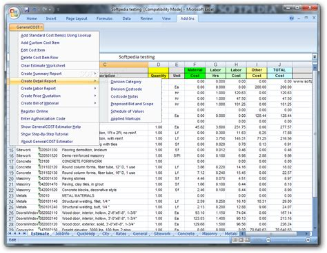 building material estimator generalcost estimator download