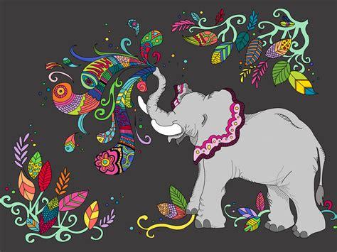 colorful elephant wallpaper colorful elephant by andii avila on deviantart