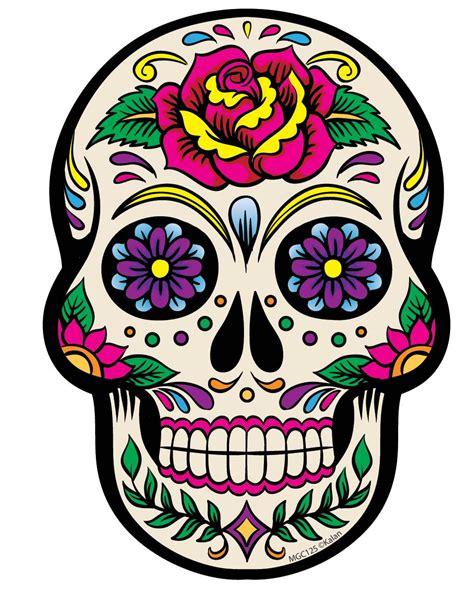 sugar skull candy skull day white sugar skull magnet tattoos sugar
