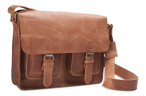 brunhide large real buffalo leather messenger bag