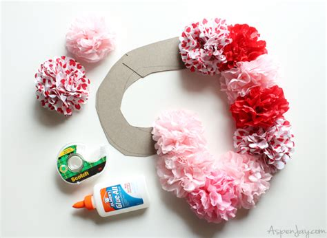 How To Make A Tissue Paper Wreath - tissue paper wreath tutorial aspen