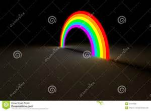 lightness or darkness of a color rainbow arc glowing in color light stock illustration