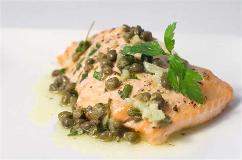 Lemon Beurre Blanc Recipe by Baked Salmon With Lemon Caper Butter Life S Ambrosia